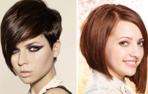Асимметричные прически на средние волосы