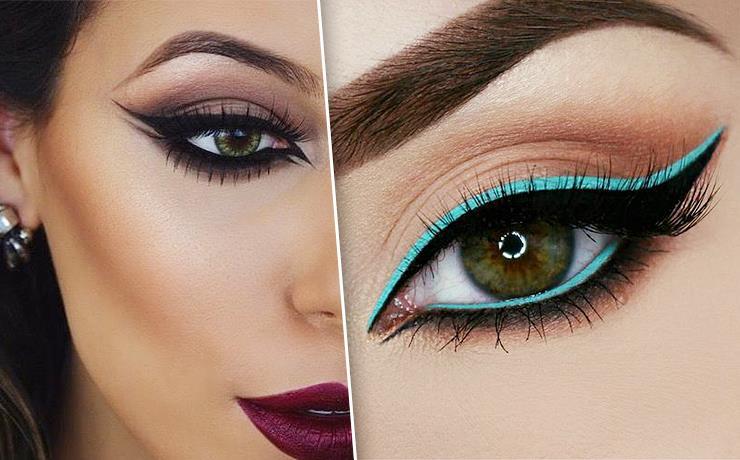 Стрелки для больших глаз: правила эффектного макияжа