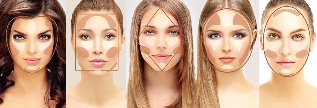 Техника нанесения макияжа глаз, лица и губ