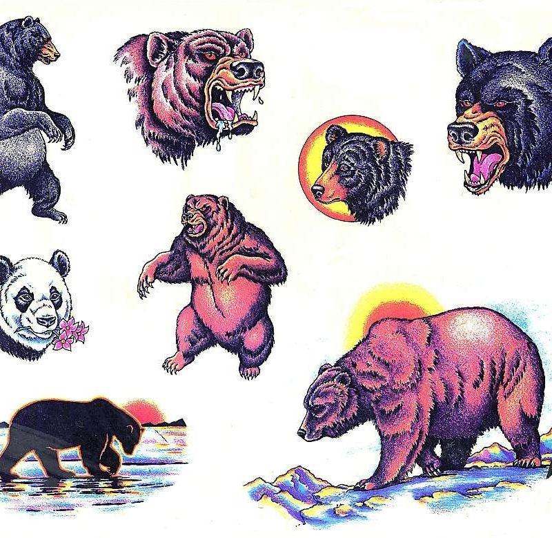 медведь эскиз тату