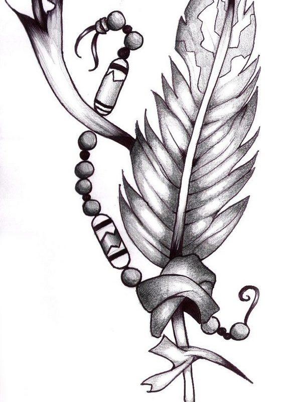 перо татуировка