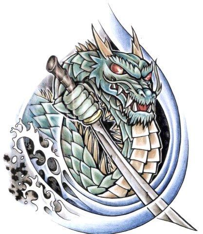 дракон эскиз екатеринбург