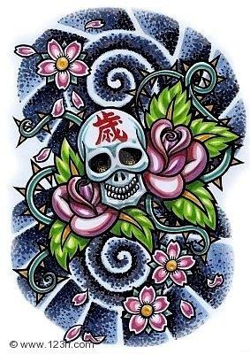 череп эскиз татуировка