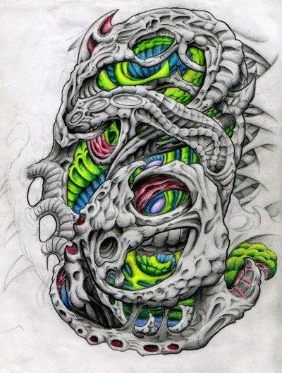 биомеханика татуировка